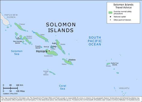 solomon islands map salomon inseln karte tierwelt