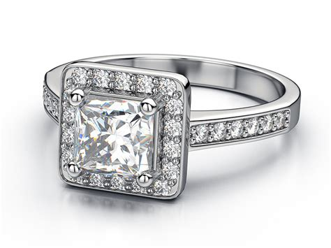 vintage princess cut engagement rings look beautiful