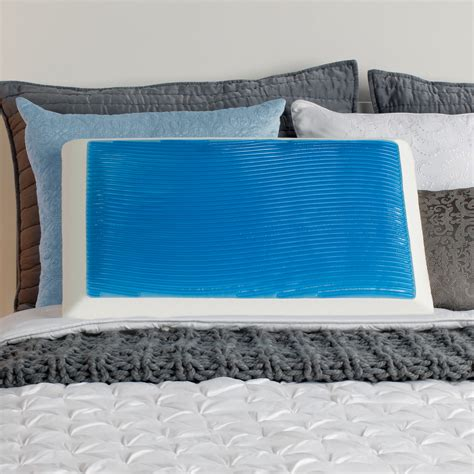 memory foam hydraluxe cooling bed pillow sealy memory foam and cooling hydraluxe gel bed pillow