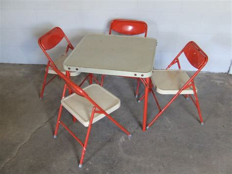 Toddler Folding Table And Chairs Vintage Samsonite Childrens Folding Table And Four Chairs