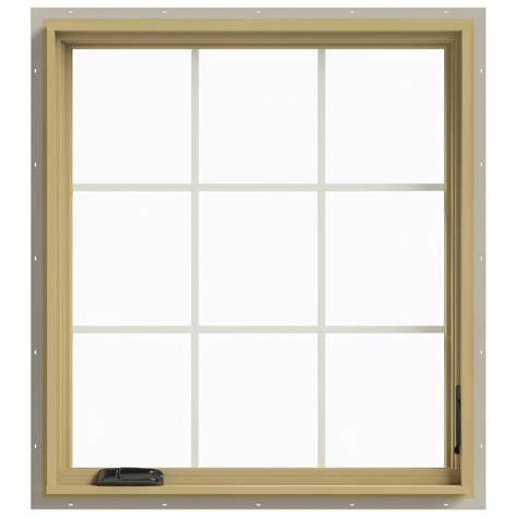 Jeld Wen Aluminum Clad Wood Windows Decor Jeld Wen 36 In X 40 In W 2500 Right Casement Aluminum Clad Wood Window Thdjw140100491