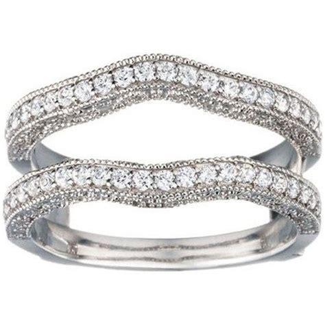 gorgeous vintage contour engagement ring guard sterling
