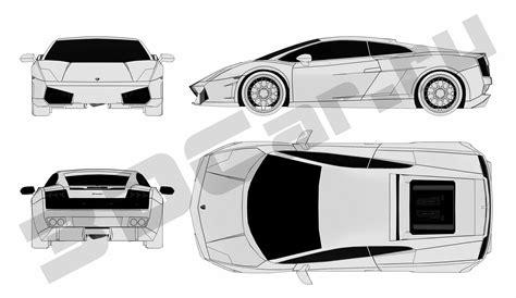 Lamborghini Gallardo Blueprints Lamborghini Gallardo Blueprint Blueprints Lam Lamborghini