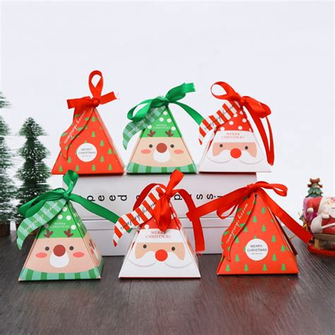 merry christmas candy box bag christmas tree gift box  bells paper box gift bag container