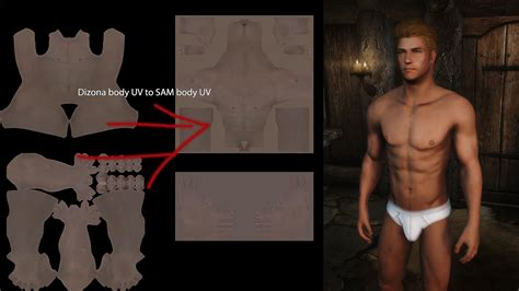 sos seamless over shoulder at skyrim nexus mods and male skin textures skyrim 83willows thaiden 2versions