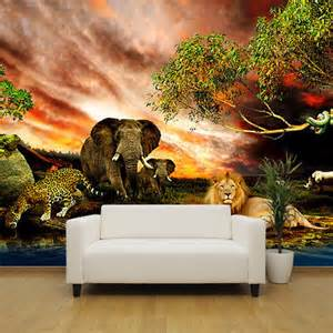 safari animals in africa feature wallpaper mural design wm021 jungle theme wall murals related keywords amp suggestions