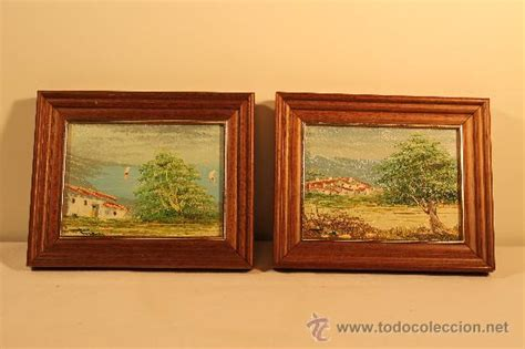 precio de cuadros al oleo dos cuadros oleos peque 241 os paisajes comprar pintura al