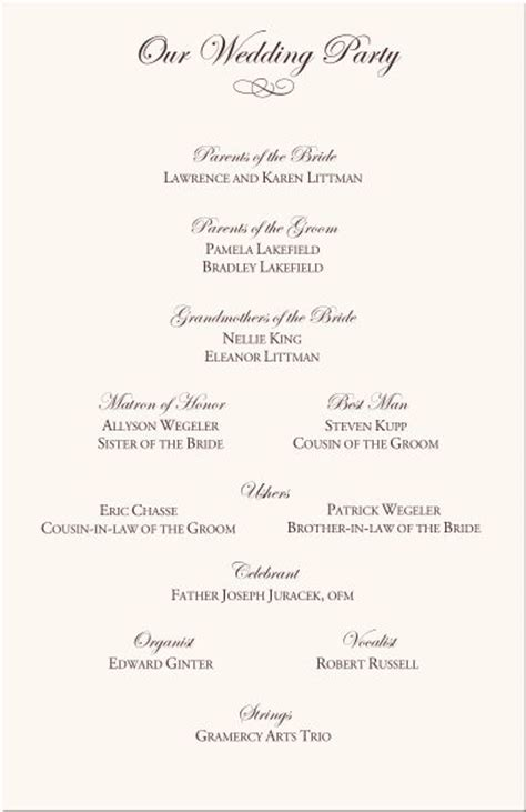 25 Best Ideas About Wedding Program Exles On Pinterest Wedding Programs Wording Wedding Catholic Wedding Order Of Service Template
