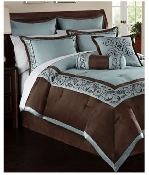 blue and brown queen comforter sets hallmart rosenthal 24 piece queen comforter set blue brown
