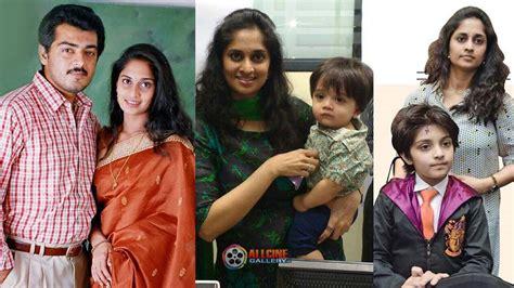 actress shalini father name actress shalini family photos with husband ajith daughter