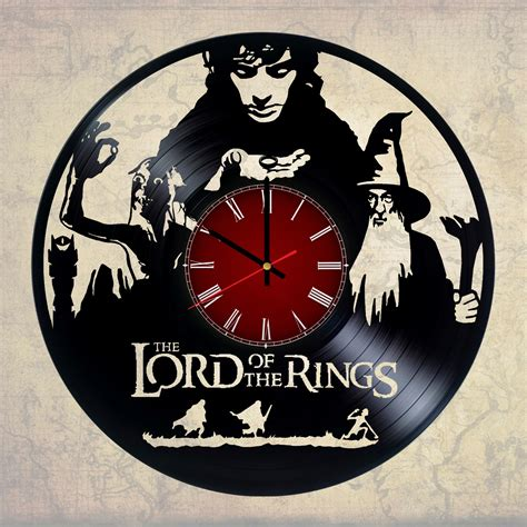 gifts for lord of the rings fans the lord of the rings handmade vinyl record wall clock fan