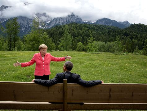 bench outreach file merkel and obama at g7 2015 pete souza jpg