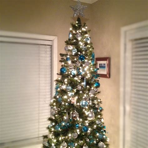 teal christmas tree lights 15 best my personal christmas decor images on pinterest