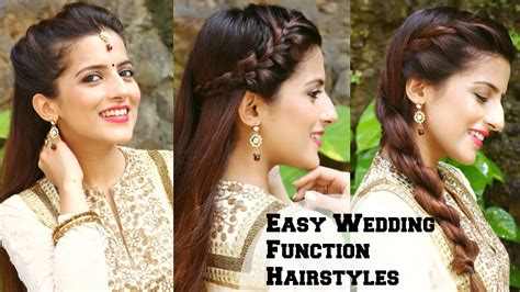 easy hairstyles  indian wedding occasions  medium
