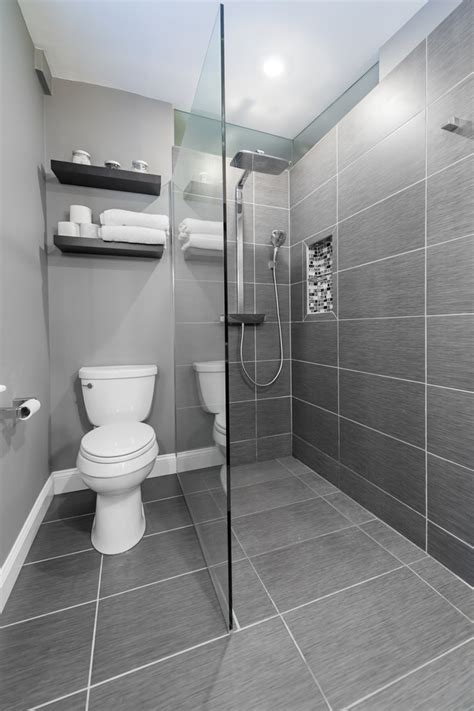 Modern Showers Small Bathrooms by Small Bathroom With Walk In Shower Decohoms