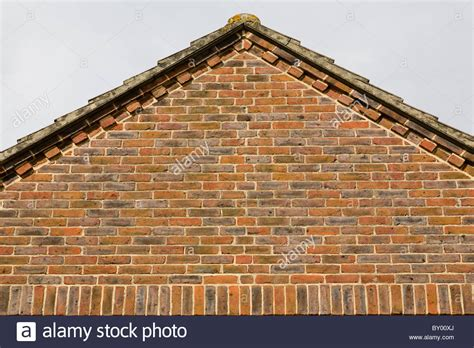 Gable End The Gable End Of A House Roof Showing Brick Decorative