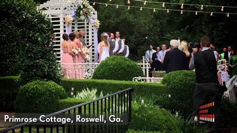 primrose cottage roswell primrose cottage wedding roswell ga exquisite sounds ent