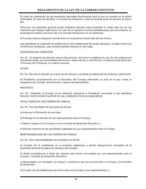 reglamento general de carrera docente reglamento de la carrera docente urracredito
