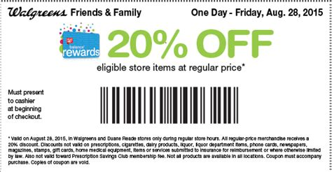 Duane Reade Gift Cards Available - friends and family coupon walgreens