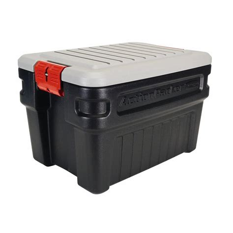 rubbermaid storage containers rubbermaid 24 gal packer storage box rmap240000 the home depot