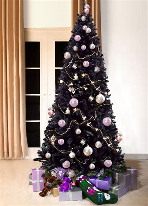 slimline bergen fir black christmas tree artificial