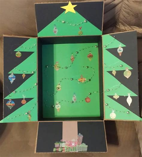 christmas tree military care package decorated box great