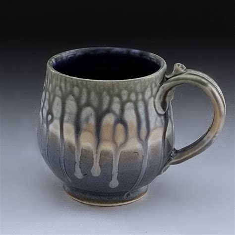 Handmade Stoneware - handmade pottery mug blue stoneware by hudak