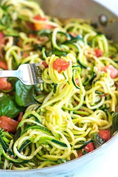 vegetables zucchini guilt free garlic parmesan zucchini noodles pasta recipe