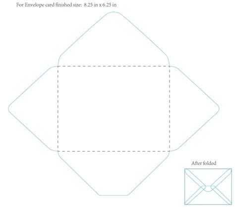 envelope fold card template 8 best images of fold an envelope how to make an