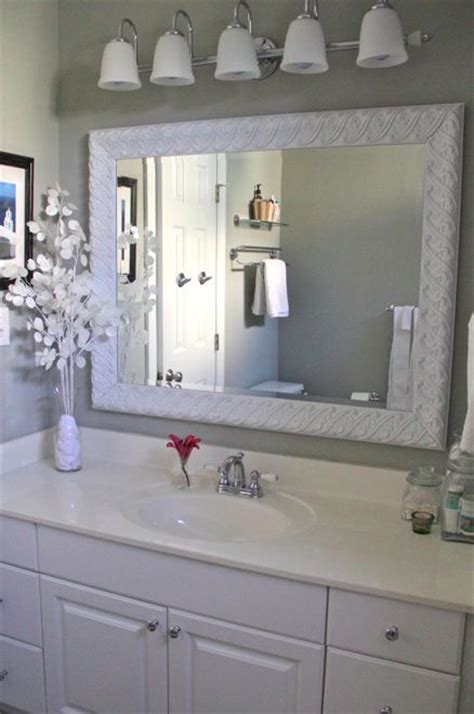 Diy Bathroom Mirror After3 Decorating Ideas Pinterest Diy Bathroom Mirror Ideas