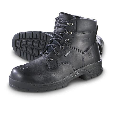 s wolverine 174 harrison work boots black 156630 work