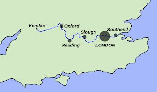 river thames source to mouth map the river thames primary school geography encyclopedia
