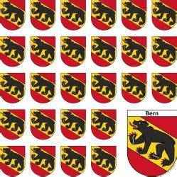 Sticker Drucken Bern by Bogen Mit Bern Sticker In Wappenform 1 Grosser Und 26 Kleine