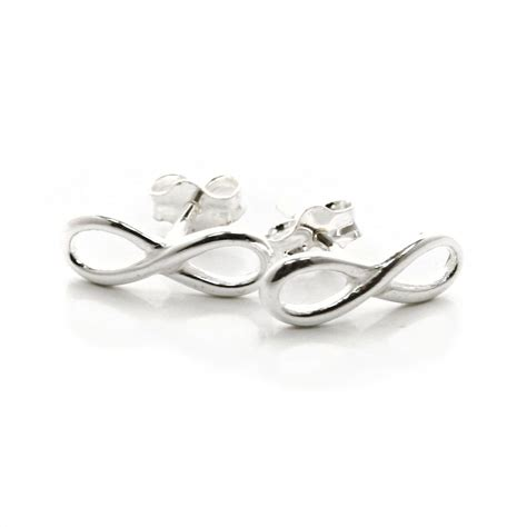 lemniscate infinity infinity lemniscate ouroboros sterling silver stud