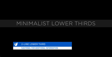 Minimalist Lower Thirds By Motionrevolver Videohive Lower Third Templates Photoshop