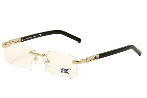 Frame Montblanc 7 mont blanc s eyeglasses mb398 mb 398 028 gold black optical frame 56mm jet