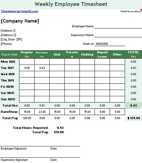 Timesheet Template Free Simple Time Sheet For Excel Free Excel Timesheet Template Employees