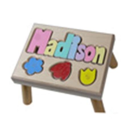 Puzzle Stools For Toddlers by Personalized Puzzle Step Stools Wooden Name Puzzle
