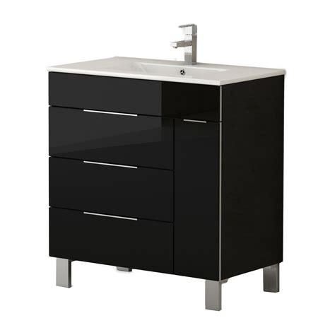 Black Modern Bathroom Vanity by Eviva Geminis 28 Quot Black Modern Bathroom Vanity With White