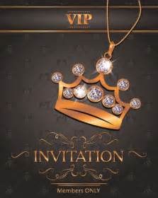 luxury vip invitation cards 04 vector card free download