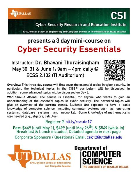 Of Dallas Mba Cyber Security by Department Of Computer Science The Of
