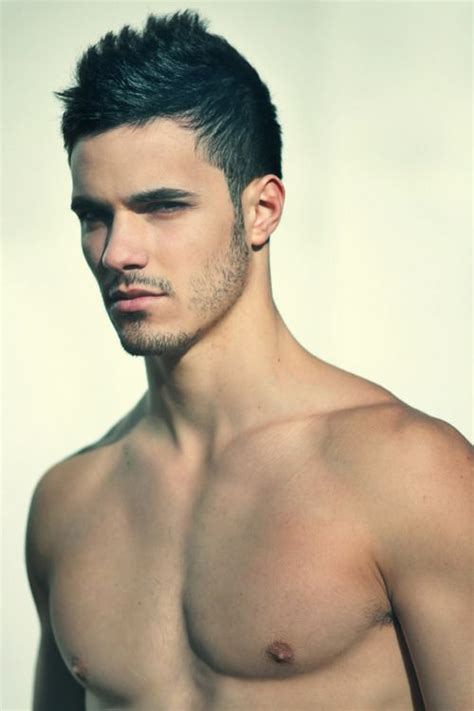 hair model boy love guys with dark almost black hair and slightly tanned