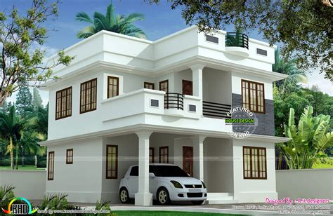 kerala home design double floor 1897 sq ft cute double storied house kerala home design