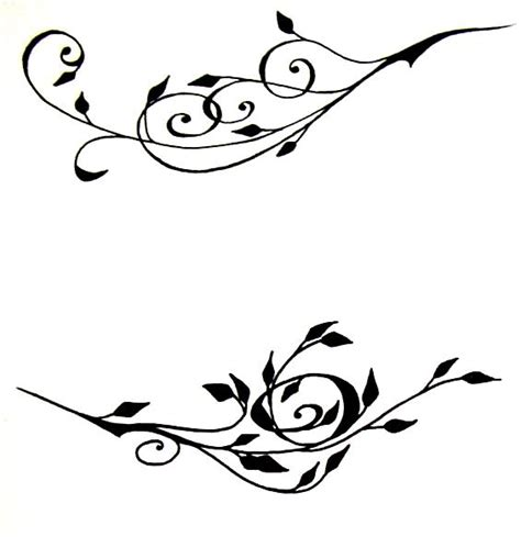 vine design tattoos flower vine drawings clipart best