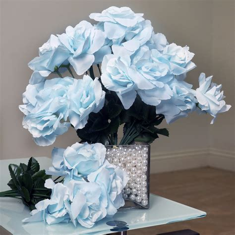 Wholesale Silk Wedding Flowers Supplies by 168 Silk Open Roses Wedding Bouquets Flowers Centerpieces