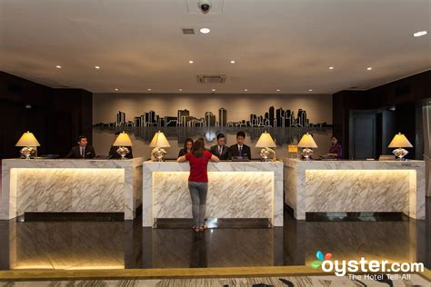 front desk at the diamond hotel philippines oyster com