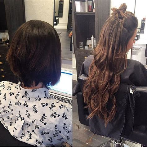 short to long hair extensions best 25 permanent hair extensions ideas on pinterest