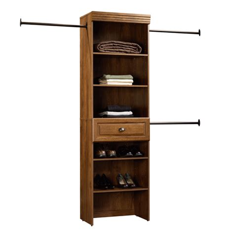 Sauder Closet Organizer by Sauder Hanover Closets Wide Starter Kit Home Storage