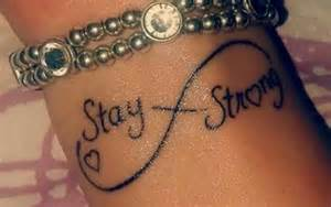 Stay Strong Infinity Wrist Of The Infinity Symbol Saying Stay