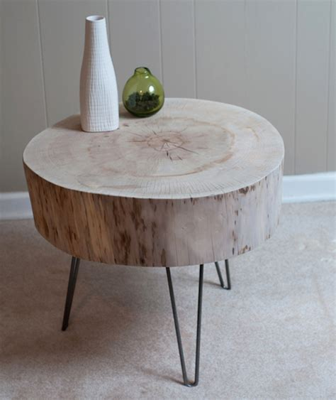 table de nuit rondin de bois table en rondin de bois table basse en rondin de bois